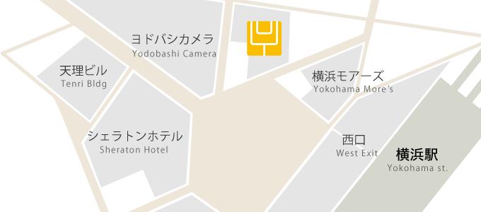 「スタジオヨギー 横浜 地図」の画像検索結果
